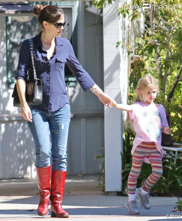 Jennifer Garner et sa petite Violet à Los Angeles le 24 septembre 2010