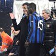 Mario Balotelli et son entraineur à l'Inter Milan, José Mourinho