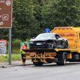 La voiture accidentée de Mario Balotelli à Manchester