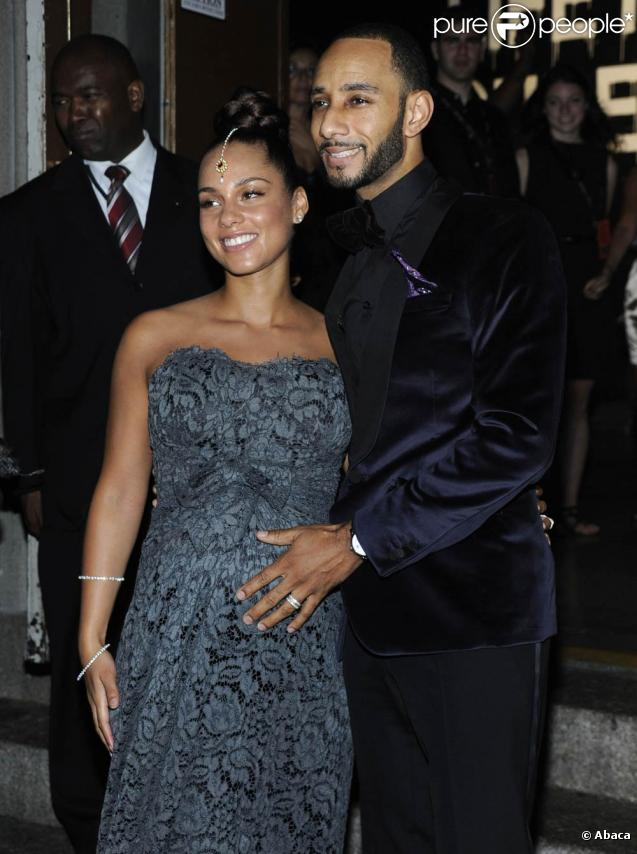 Alicia Keys et son mari Swizz Beatz lors du Black Ball NY 2010, le 30 septembre 2010 à New York