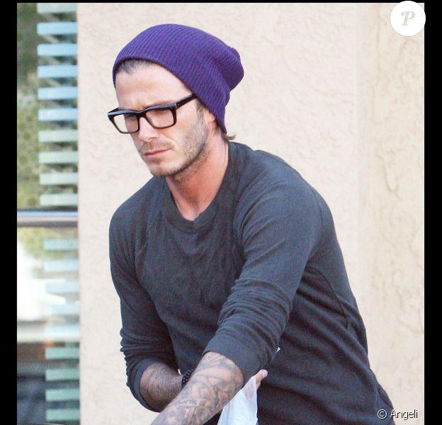 David Beckham offre une glace à ses enfants, après les avoir récupérés à la sortie de l'école, il y a quelques jours.