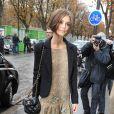 Keira Knightley se rendant au défilé Chanel