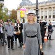 Alexandra Golovanoff se rendant au défilé Chanel