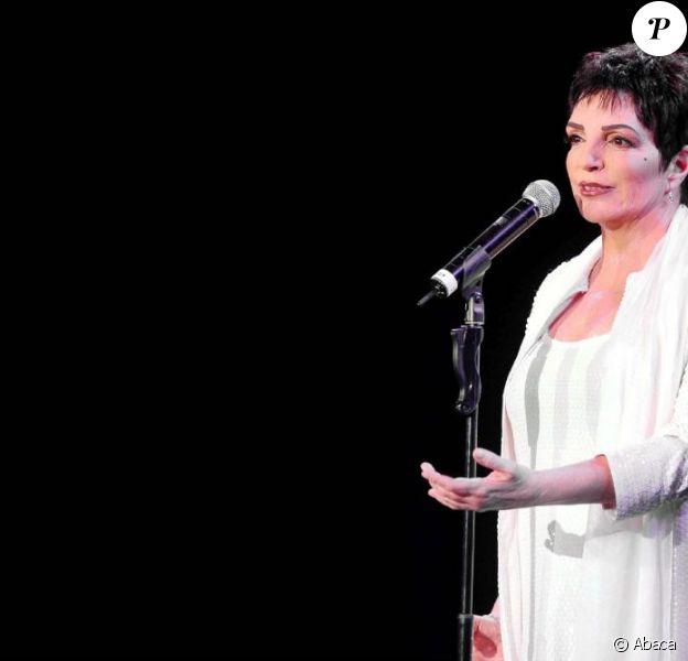 Liza Minnelli lors d'un concert à Rome