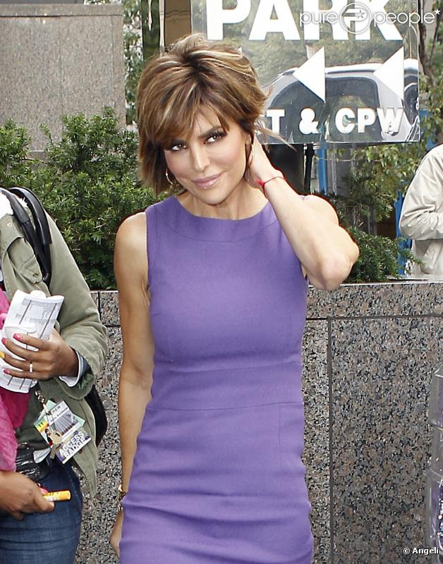 Lisa Rinna, l'une des candidates de l'émission The Celebrity Apprentice, à New York le 20 octobre 2010