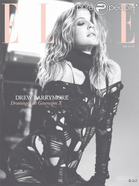 L'actrice américaine Drew Barrymore en couverture du ELLE Norvège du mois de novembre 2010