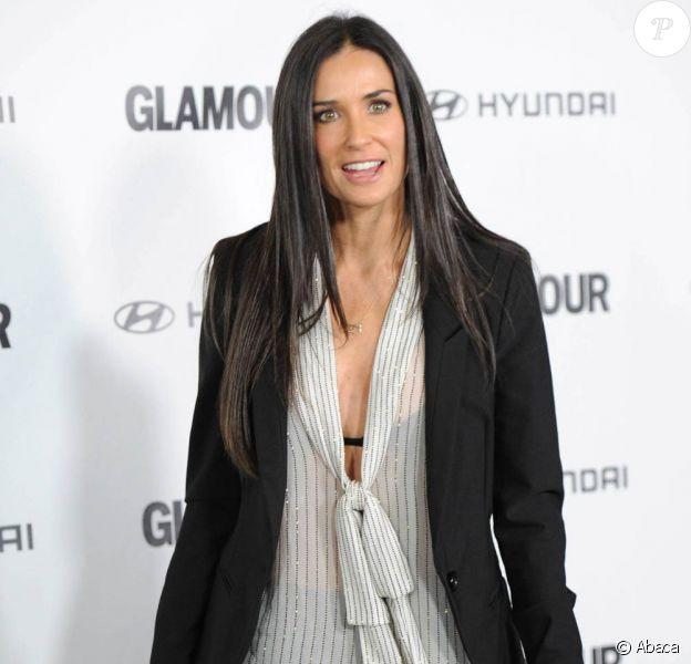 Demi Moore, à l'occasion des Glamour Reel Moments, qui se sont tenus à la Director's Guild of America, à West Hollywood, le 25 octobre 2010.