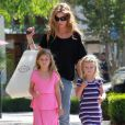 Denise Richards et ses filles Sam et Lola Rose, nées de son union avec Charlie Sheen