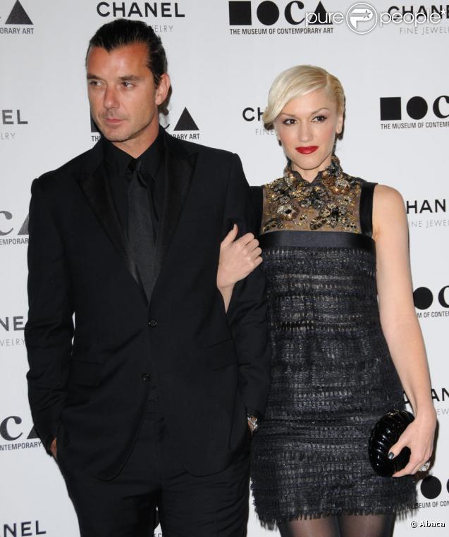 Gavin Rossdale et Gwen Stefani lors du gala du musée d'art contemporain de Los Angeles avec Chanel le 13 novembre 2010