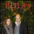 Alysson Paradis et Matteo Sinigaglia à l'occasion de la soirée d'inauguration de la boutique Replay, à Paris, le 25 novembre 2010.