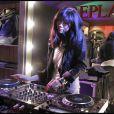 DJ Misty Rabbit à l'occasion de la soirée d'inauguration de la boutique Replay, à Paris, le 25 novembre 2010.