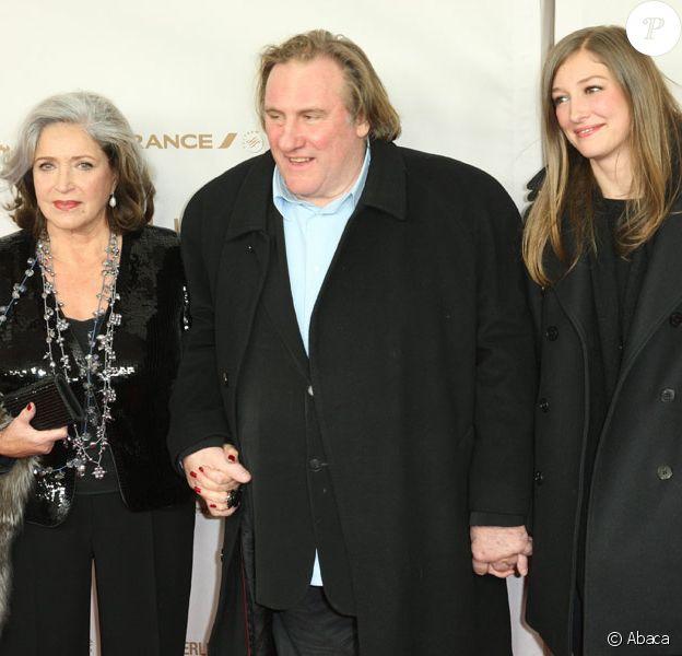 Françoise Fabian, Gérard Depardieu et Alexandra Maria Lara lors de l'avant-première à Berlin du film Small World le 1er décembre 2010