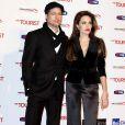 Angelina Jolie et Brad Pitt à l'occasion de l'avant-première italienne de  The Tourist , au Space Cinema de Rome, le 15 décembre 2010.