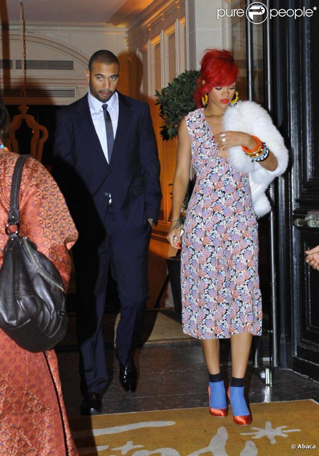 Rihanna et Matt Kemp en octobre 2010 à Paris