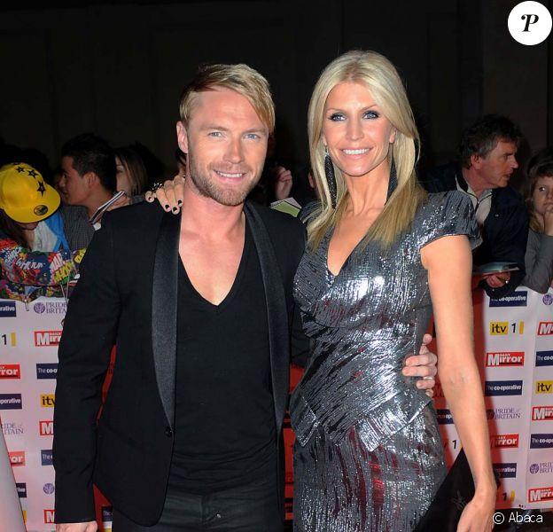 Ronan Keating et sa femme Yvonne, Londres, octobre 2009