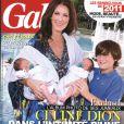 Céline Dion, ses jumeaux et René-Charles en couverture de Gala