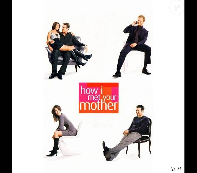 affiche de la s rie am ricaine de cbs how i met your mother. Black Bedroom Furniture Sets. Home Design Ideas
