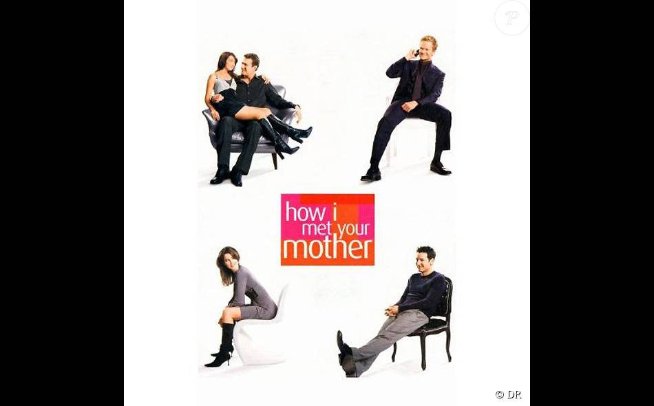 affiche de la s rie am ricaine de cbs how i met your mother purepeople. Black Bedroom Furniture Sets. Home Design Ideas