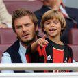 David Beckham et son petit Romeo (8 ans) : Romeo a été classé parmi les hommes les plus stylés... devant Jude Law !