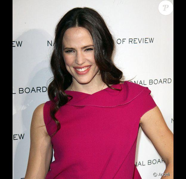Jennifer Garner sublime est venue soutenir son Ben Affleck au National Board review à New York le 11 janvier 2011 où il a reçu un prix pour son film The Town