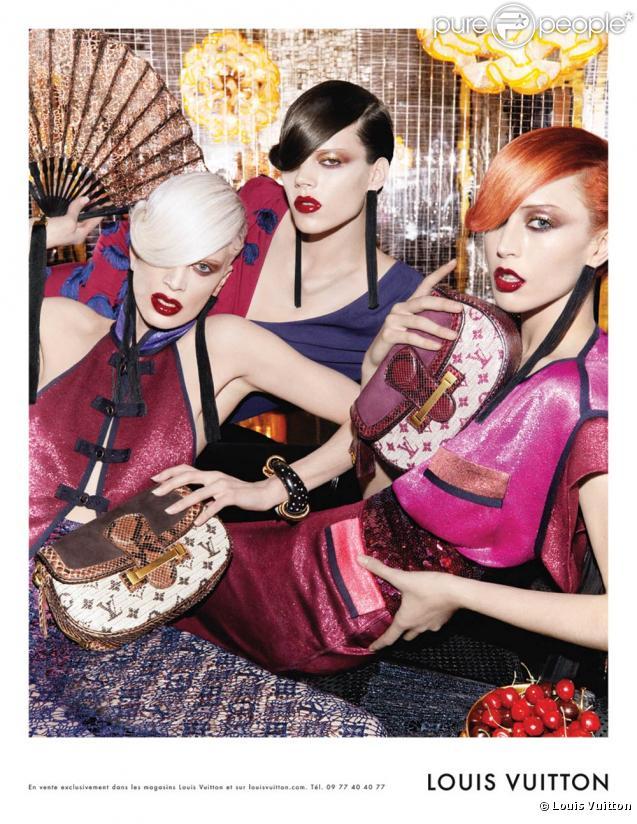 Freja Beha Erichsen, Raquel Zimmermann et Kristen McMenamy pour la campagne Louis  Vuitton P  5141311de03a