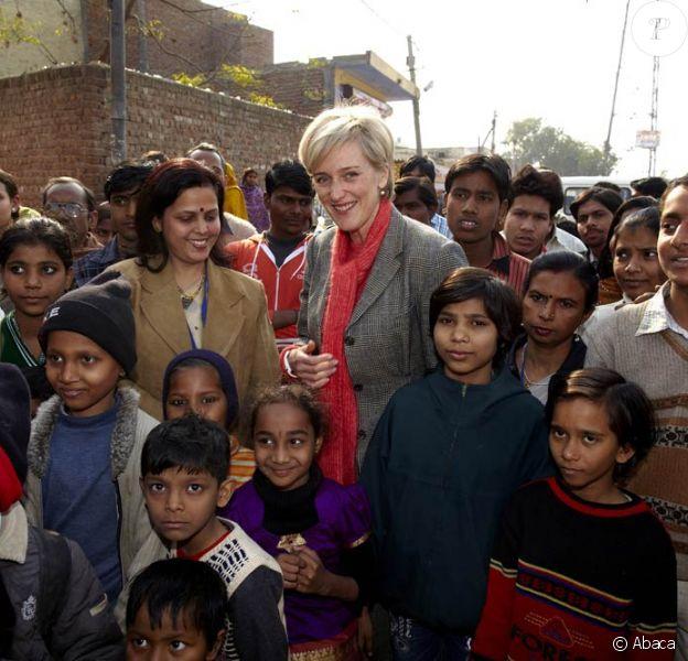 La princesse Astrid de Belgique était le 19 janvier en Inde pour y visiter des programmes de recherche dans le domaine de la santé.