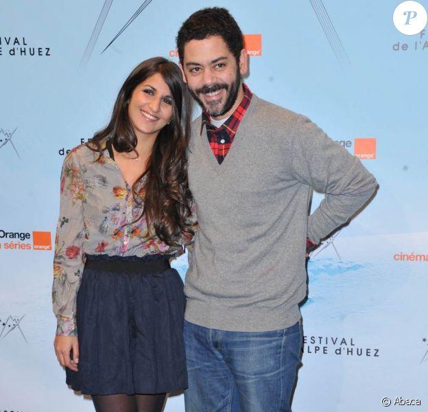 Géraldine Nakache et son mari Manu Payet au festival de l'Alpe d'Huez, le vendredi 21 janvier 2011.
