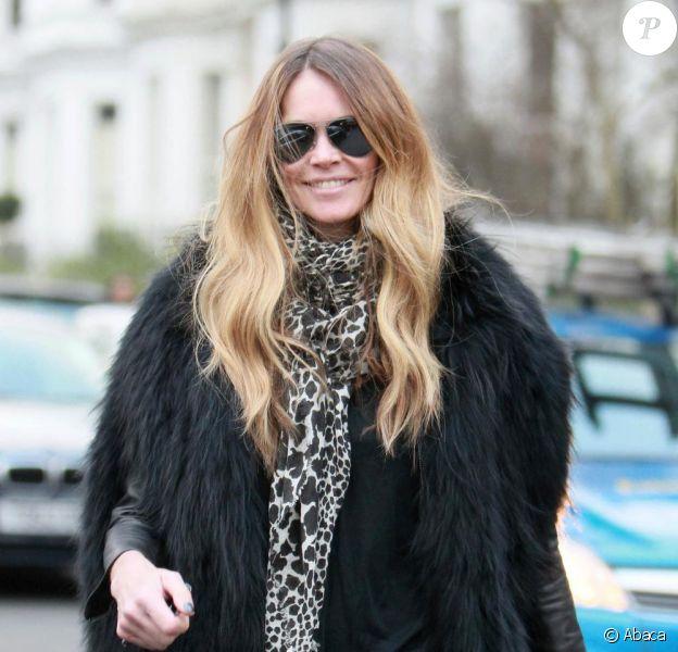 Elle Macpherson à Londres, le 28 janvier 2011.