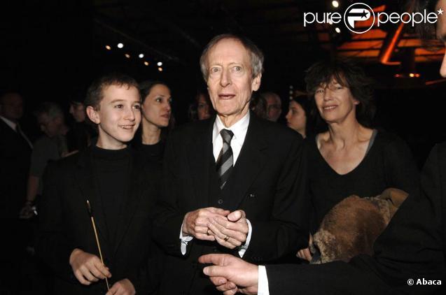 John Barry et Jane Birkin, à l'occasion du festival international Musique et Cinéma, à Auxerre, le 17 novembre 2007.