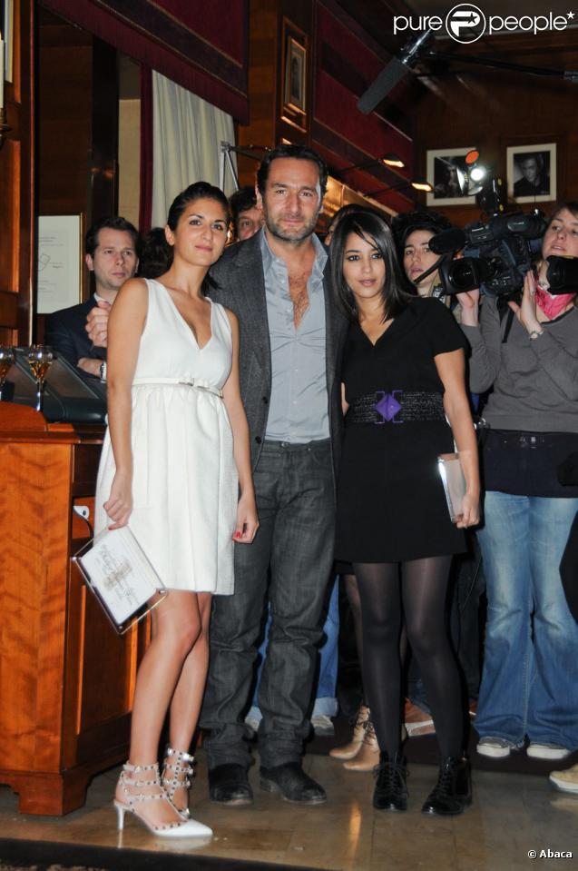 Géraldine Nakache, Gilles Lellouche et Leïla Bekhti lors du déjeuner des nominés des César le 5 février 2011
