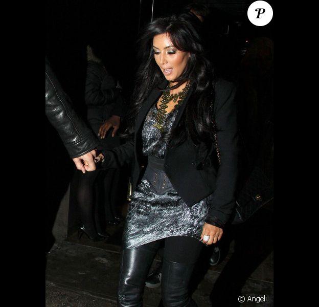 Kim Kardashian et son nouveau petit ami, Kris Humphries, sortent dans un restaurant huppé de New York, à l'occasion de l'anniversaire de ce dernier, samedi 5 février.