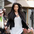 Kim Kardashian fait du shopping chez Kitson, à Los Angeles, vendredi 4 février.