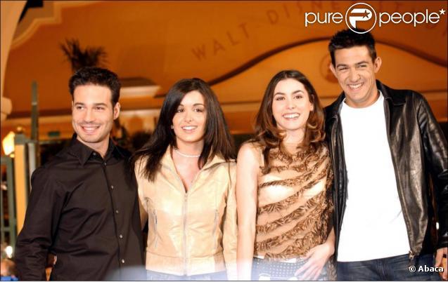 Mario Barravecchia, Jenifer, Olivia Ruiz et Jean-Pascal en 2002.