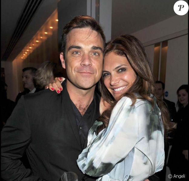 Robbie Williams et Ayda Field, lancement de la nouvelle ligne Spencer Hart, à Londres, le 10 février 2011
