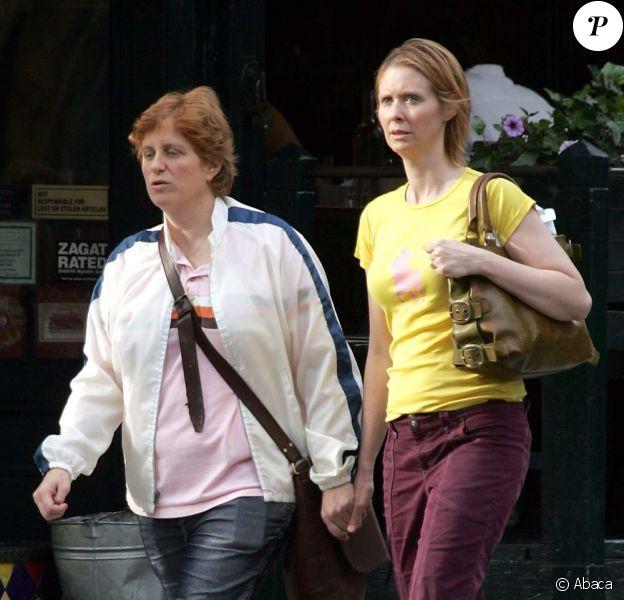 Cynthia Nixon et Christine Marinoni, New York, le 3 mai 2010