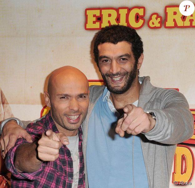 Eric Judor et Ramzy Bédia lors de l'avant-première d'Halal Police d'état à l'UGC Bercy à Paris le 15 février 2011