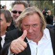 Gérard Depardieu lors du festival de Cannes 2010
