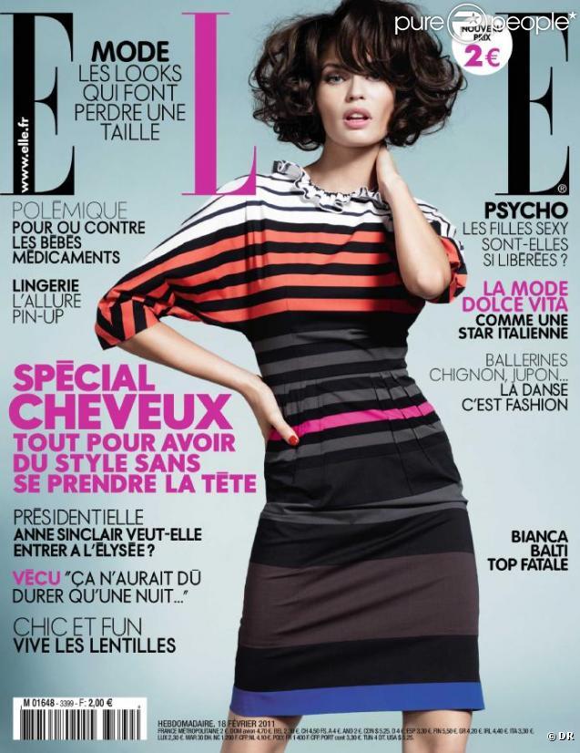 Bianca Balti en couverture du ELLE France