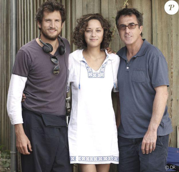 Guillaume Canet, Marion Cotillard et François Cluzet sur le tournage des Petits Mouchoirs