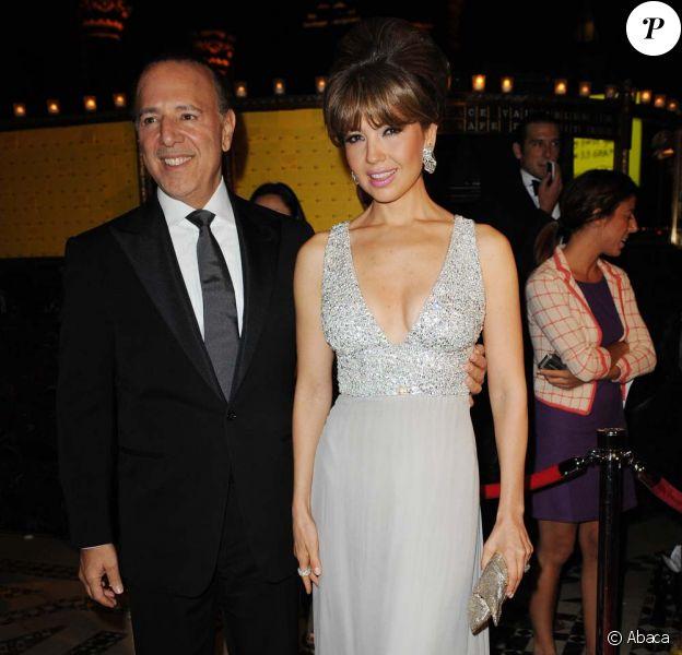 Tommy Mottola et sa femme Thalía, New York, le 22 septembre 2009