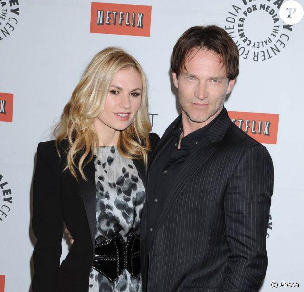 Anna Paquin et Stephen Moyer à l'occasion de la présentation de la saison 4 de True Blood, lors du PaleyFest 2011, qui se déroule au Saban Theatre, à Beverly Hills, Los Angeles, le 5 mars 2011.
