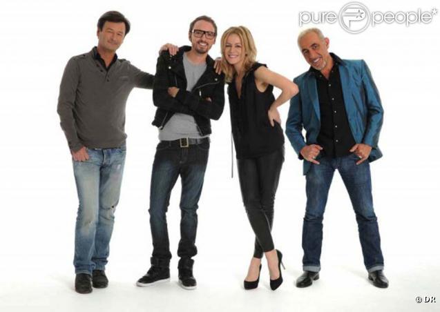 Le jury de X-Factor : Henry Padovani, Véronic DiCaire, Christophe Willem et Olivier Schultheis
