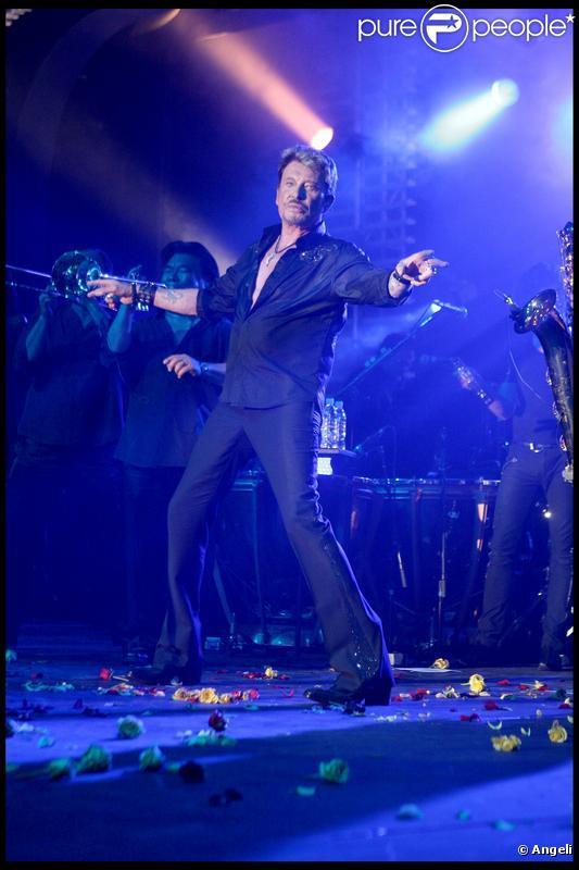 Johnny Hallyday en concert en 2009