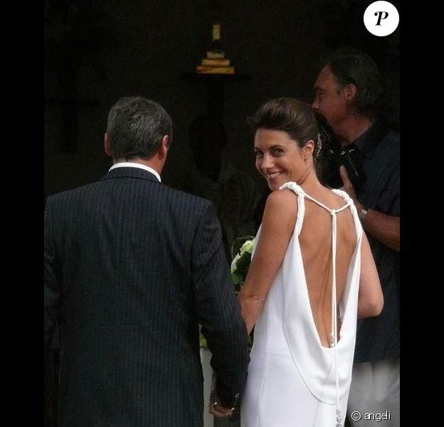 Alessandra Sublet : son mariage religieux avec Thomas à St Barth, le 25/04/08