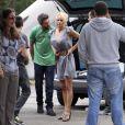 Pamela Anderson au Brésil en compagnie de son aîné Brandon et son petit ami Jon Rose le 21 mars 2011