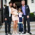Boris Becker, son fils Noah Becker, son autre fils Elias et sa nouvelle femme Lily