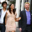 Boris Becker, sa femme Lily et son fils Noah Becker