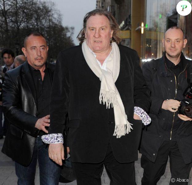Gérard Depardieu à l'occasion de l'avant-première de Je n'ai rien oublié, au Publicis, à Paris, le 28 mars 2011.