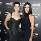 Scream 4 : Neve Campbell et Courteney Cox très complices devant David Arquette