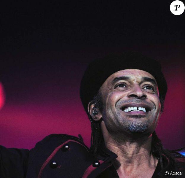 Yannick Noah en concert à Lyon, le 28 janiver 2011.